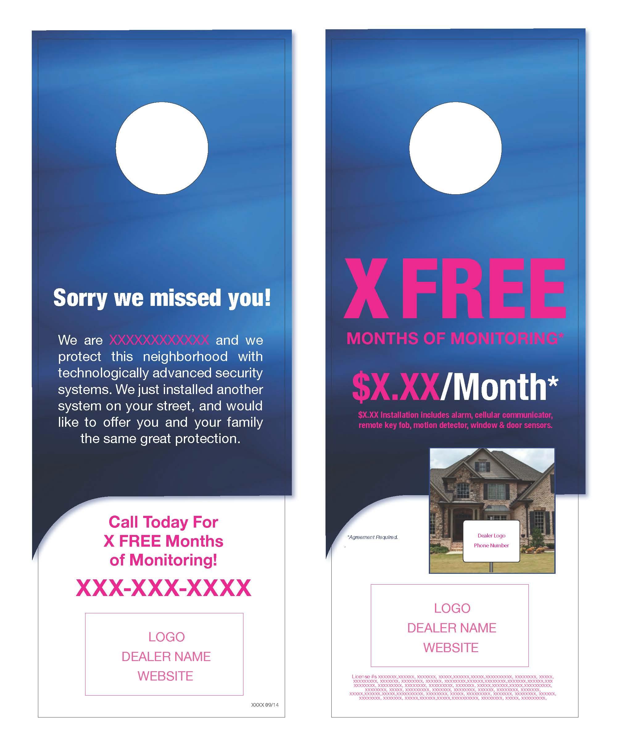 door knob advertising hangers photo - 9