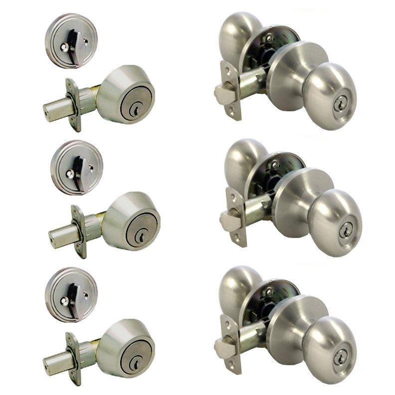 door knob and deadbolt sets photo - 18