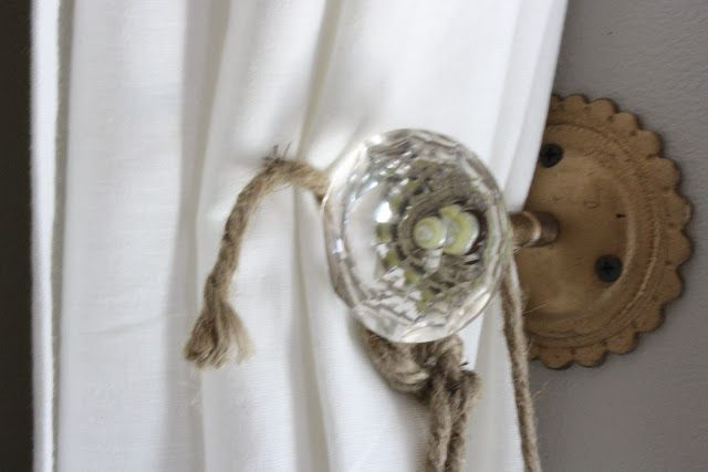 door knob curtain holdbacks photo - 3