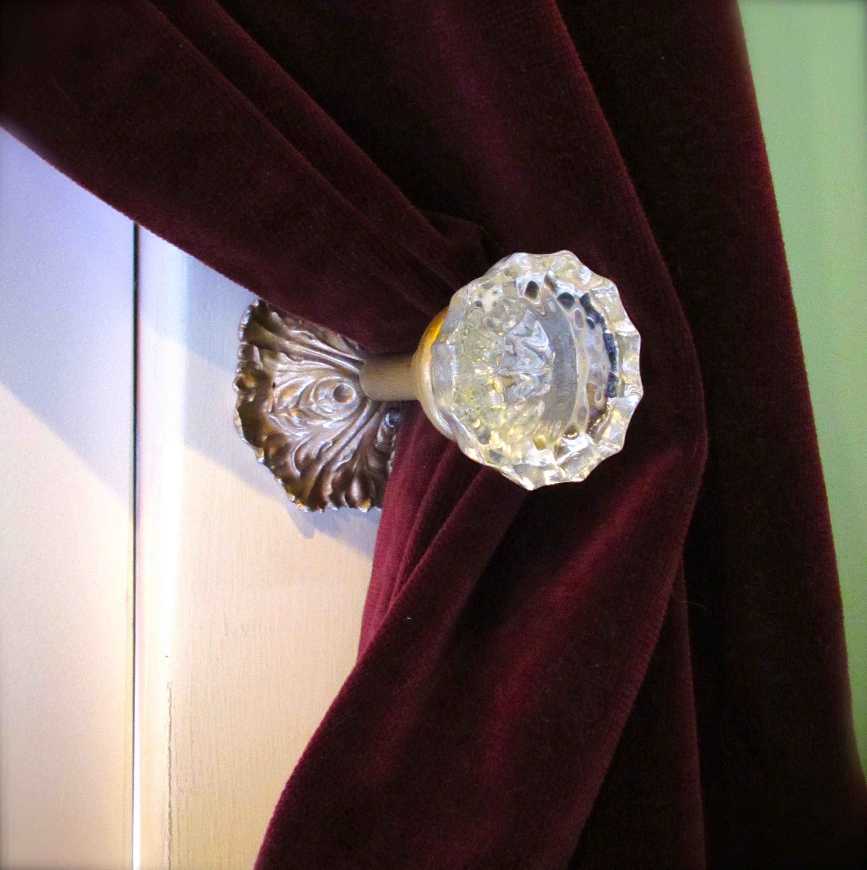 door knob curtain holdbacks photo - 7