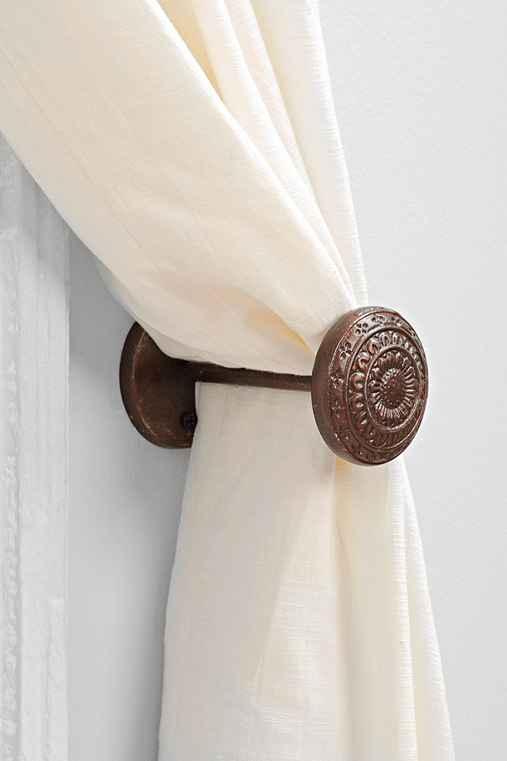 door knob curtain tie back photo - 10