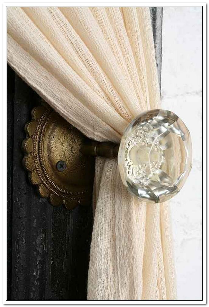 door knob curtain tie back photo - 11