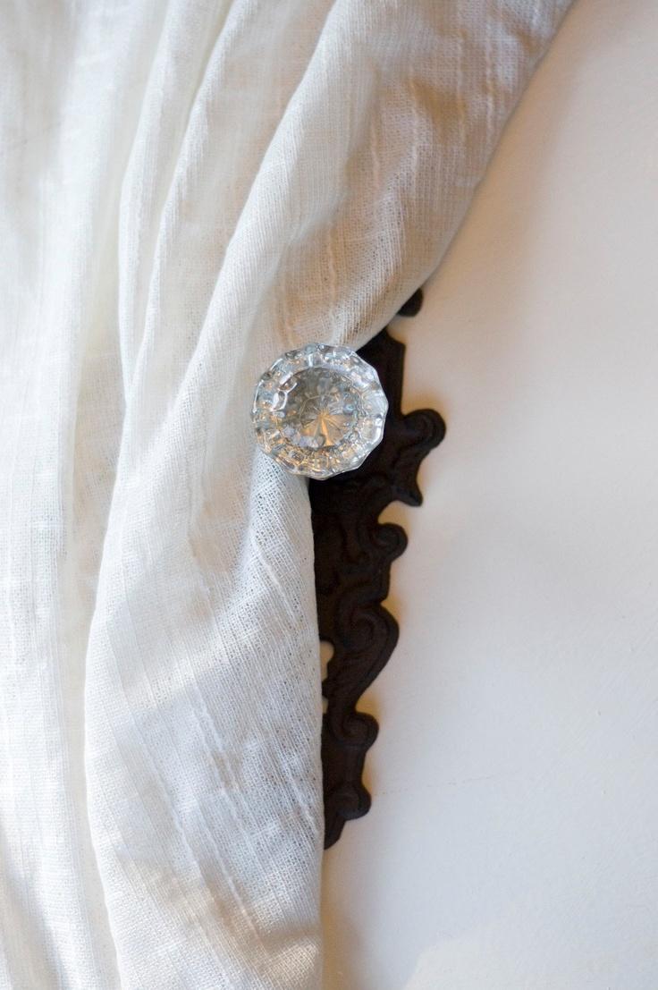 door knob curtain tie back photo - 15