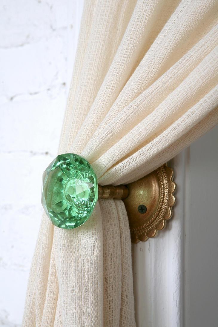 door knob curtain tie backs photo - 1