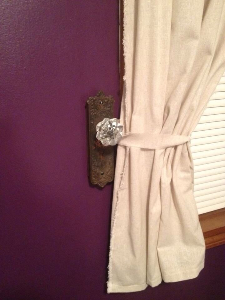 door knob curtain tie backs photo - 17