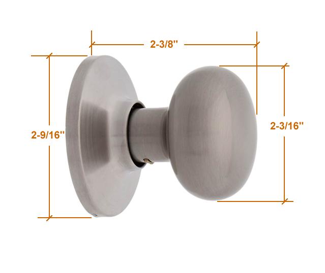door knob dimensions photo - 1