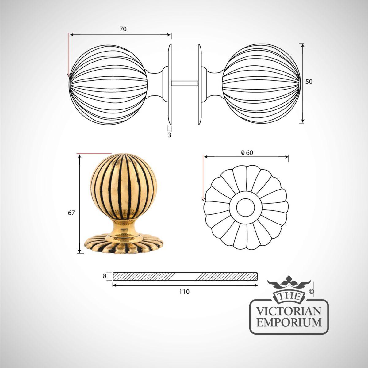door knob dimensions photo - 10