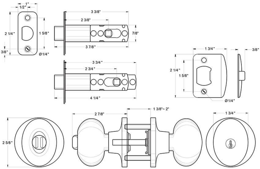 door knob dimensions photo - 14
