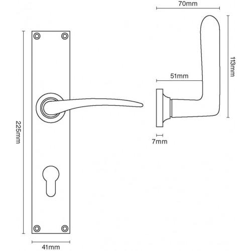 door knob dimensions photo - 18