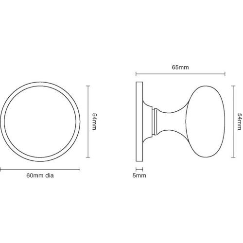 door knob dimensions photo - 2