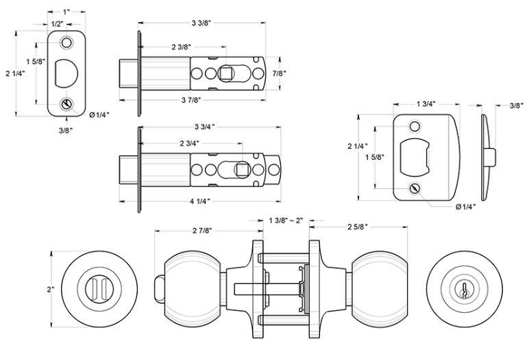 door knob dimensions photo - 3