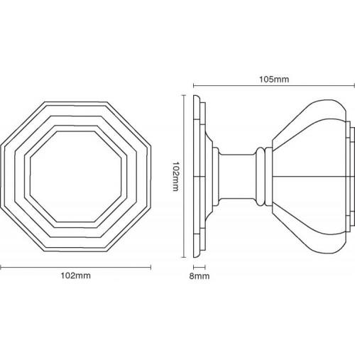 door knob dimensions photo - 5