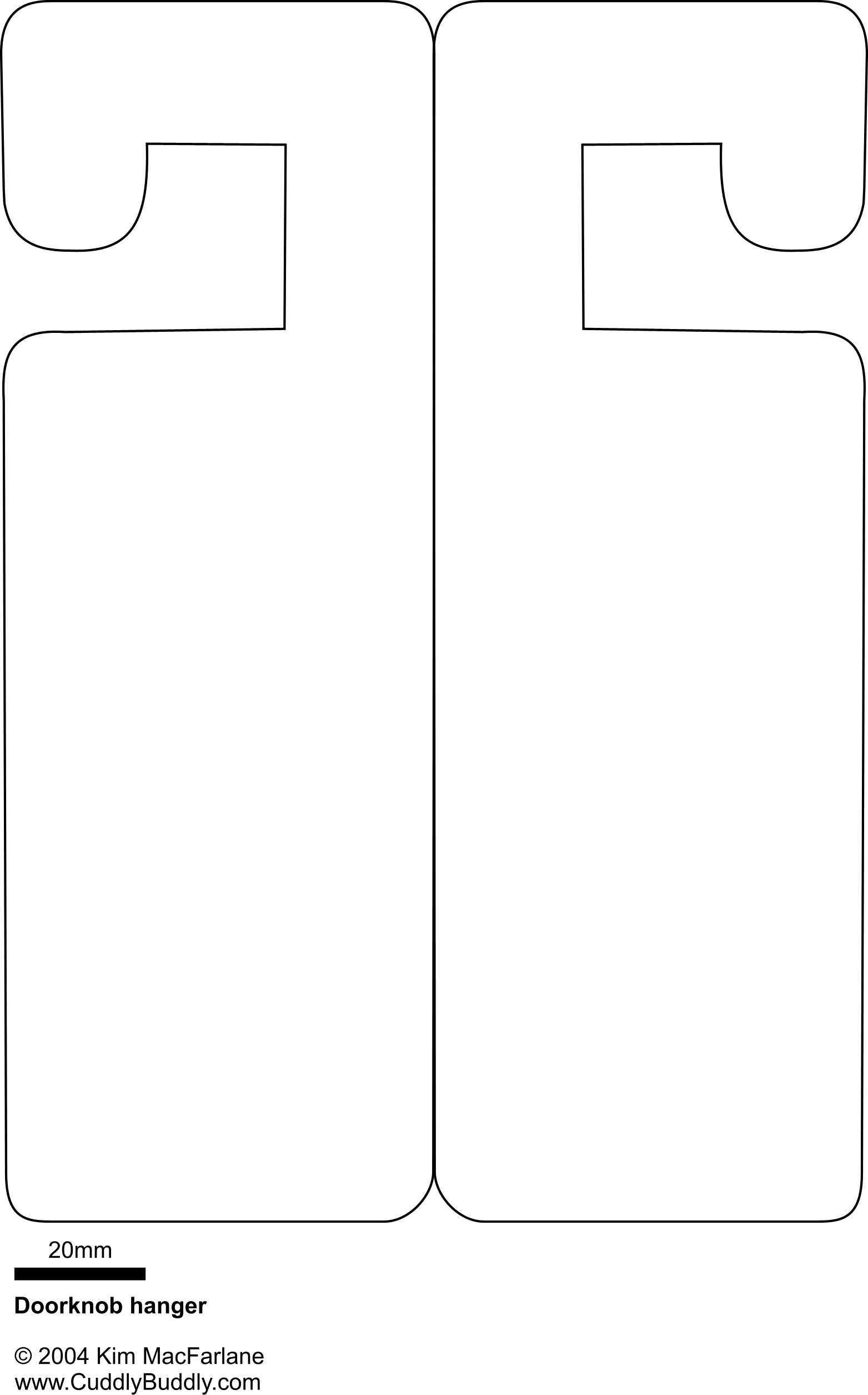door knob hanger template photo - 11
