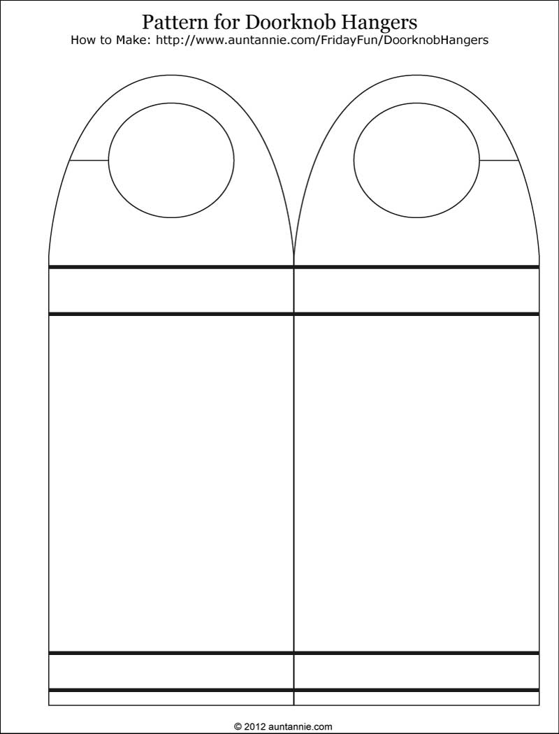 door knob hanger template photo - 12