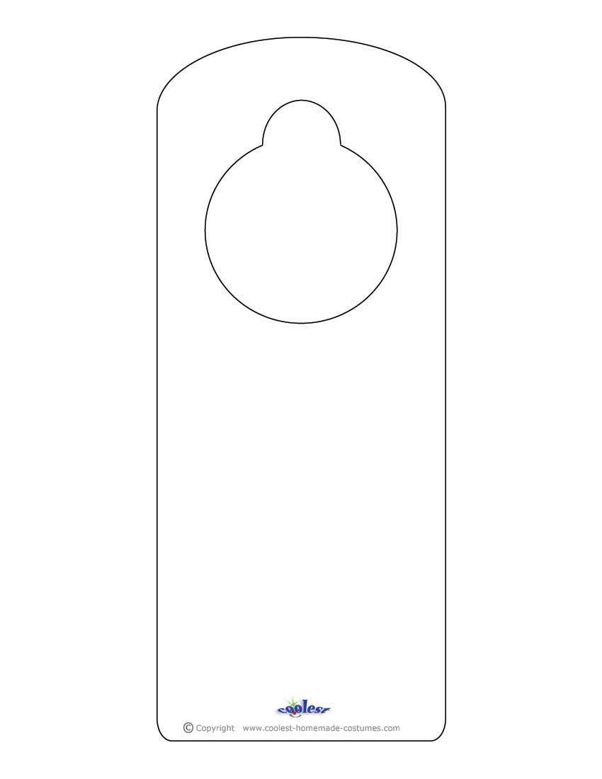 door knob hanger template photo - 14