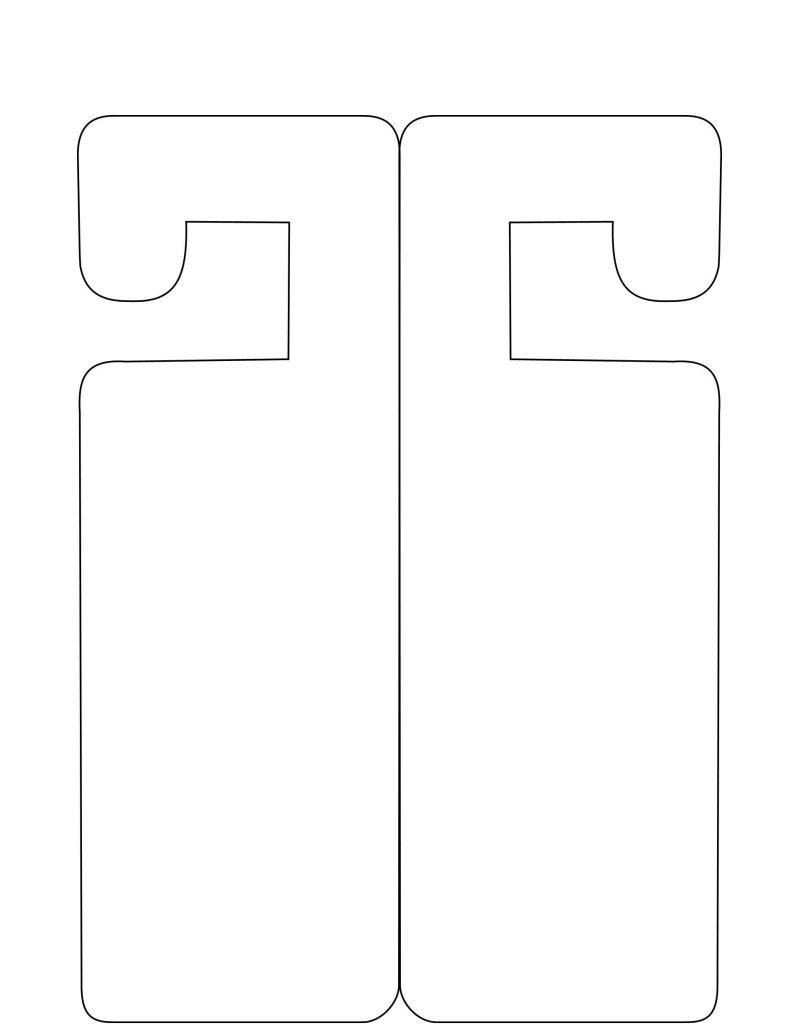door knob hanger template photo - 15