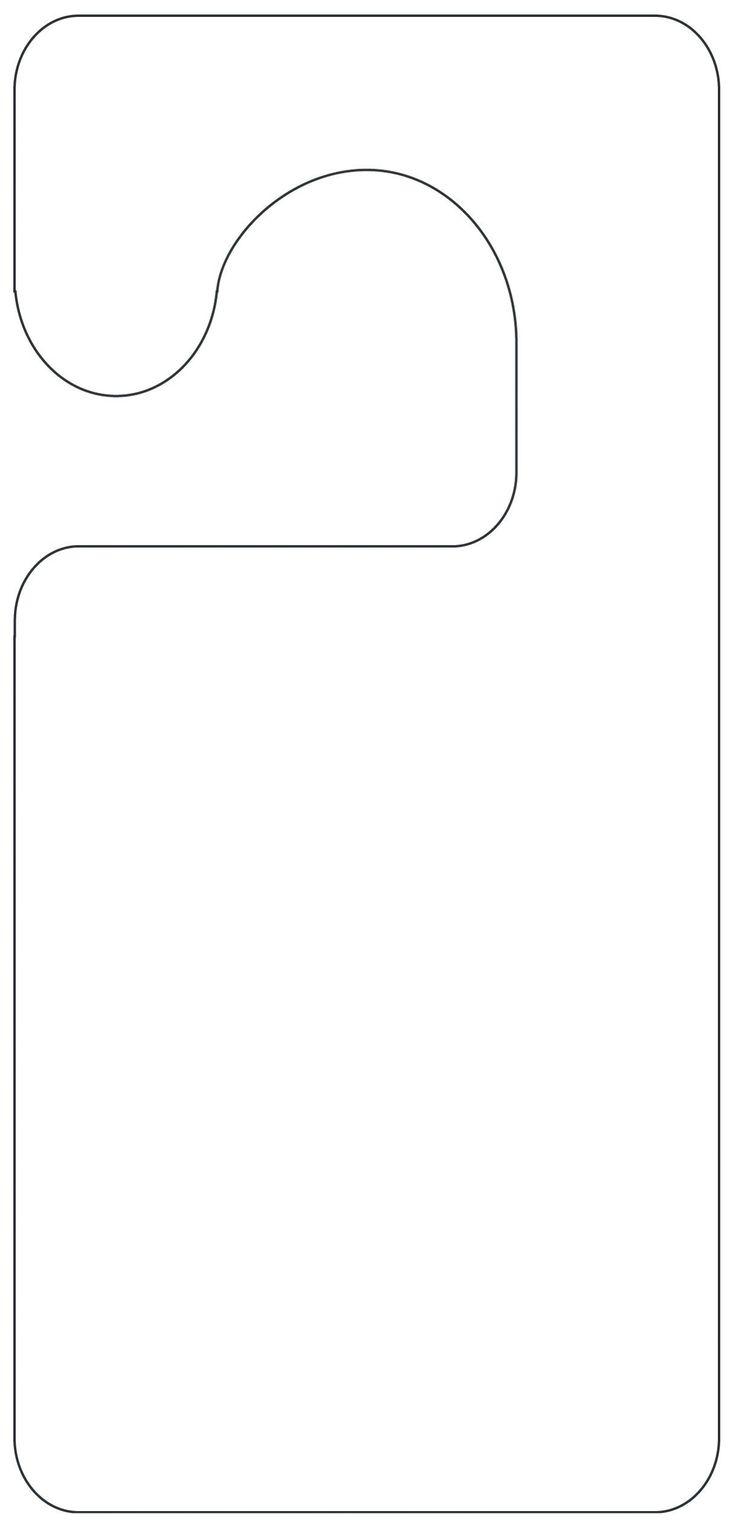door knob hanger template photo - 17