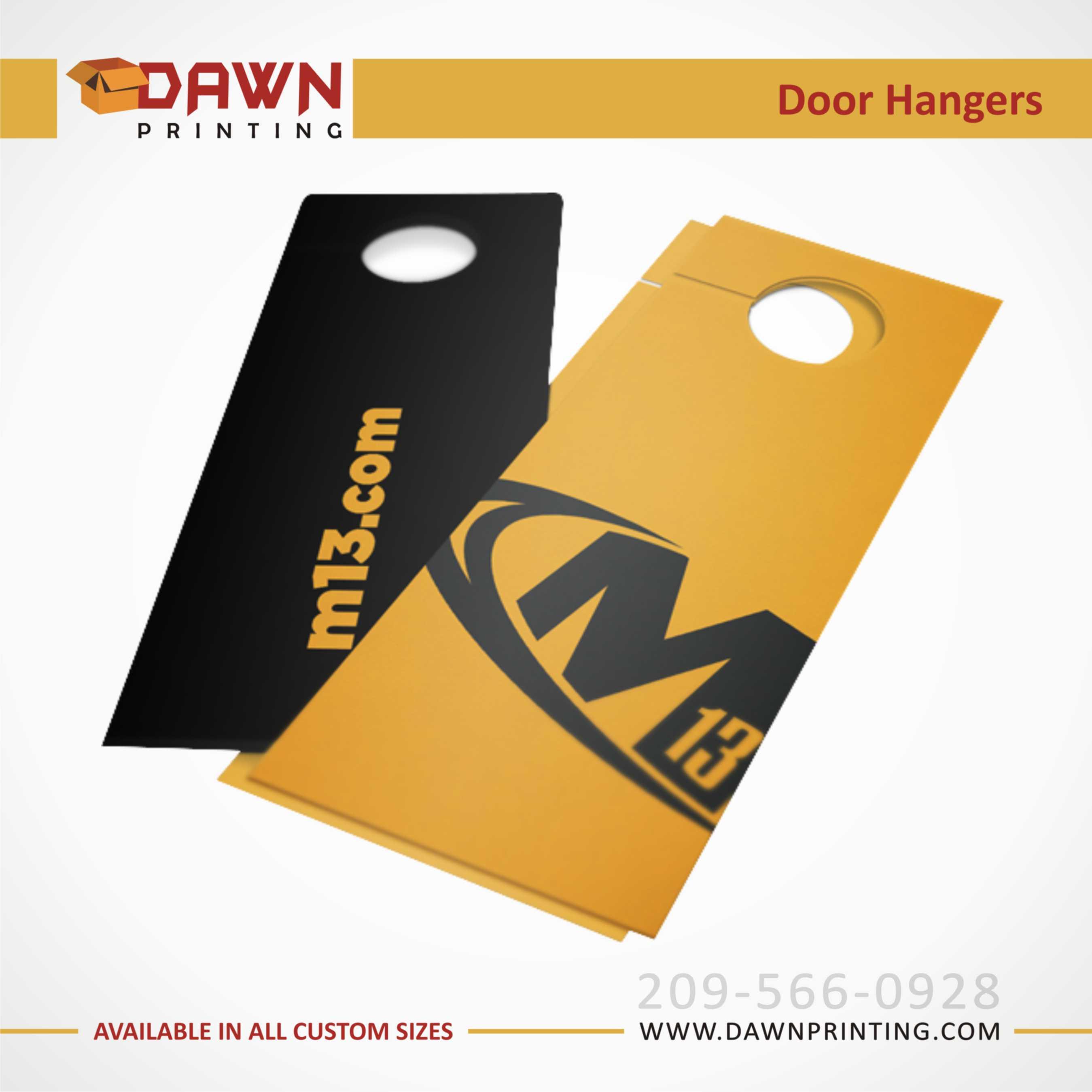 door knob hangers printing photo - 6