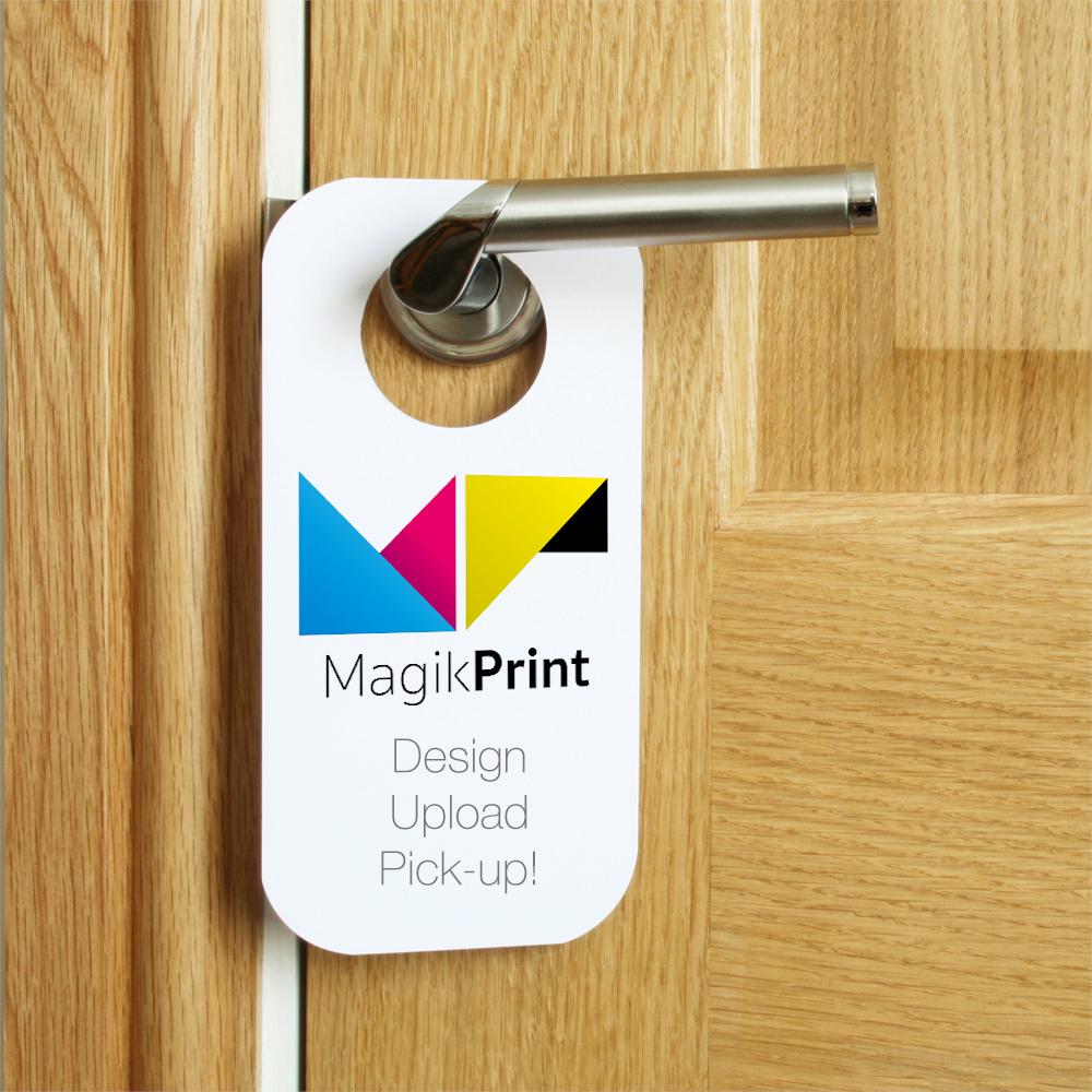 door knob hangers printing photo - 7