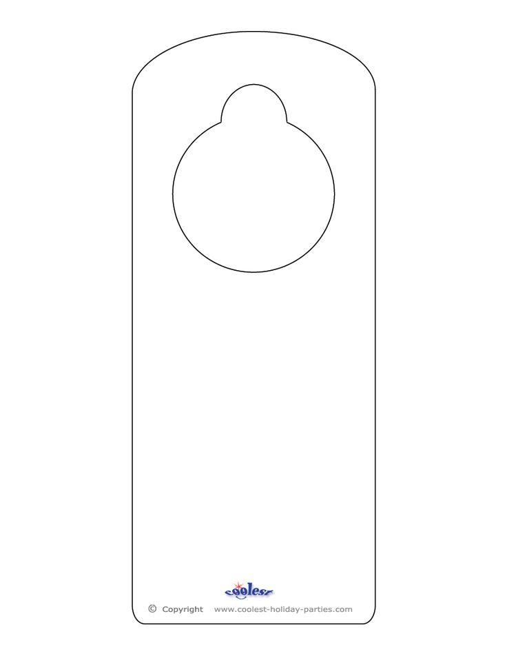 door knob hangers template photo - 8