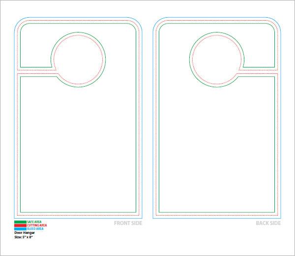 door knob hangers template free photo - 15