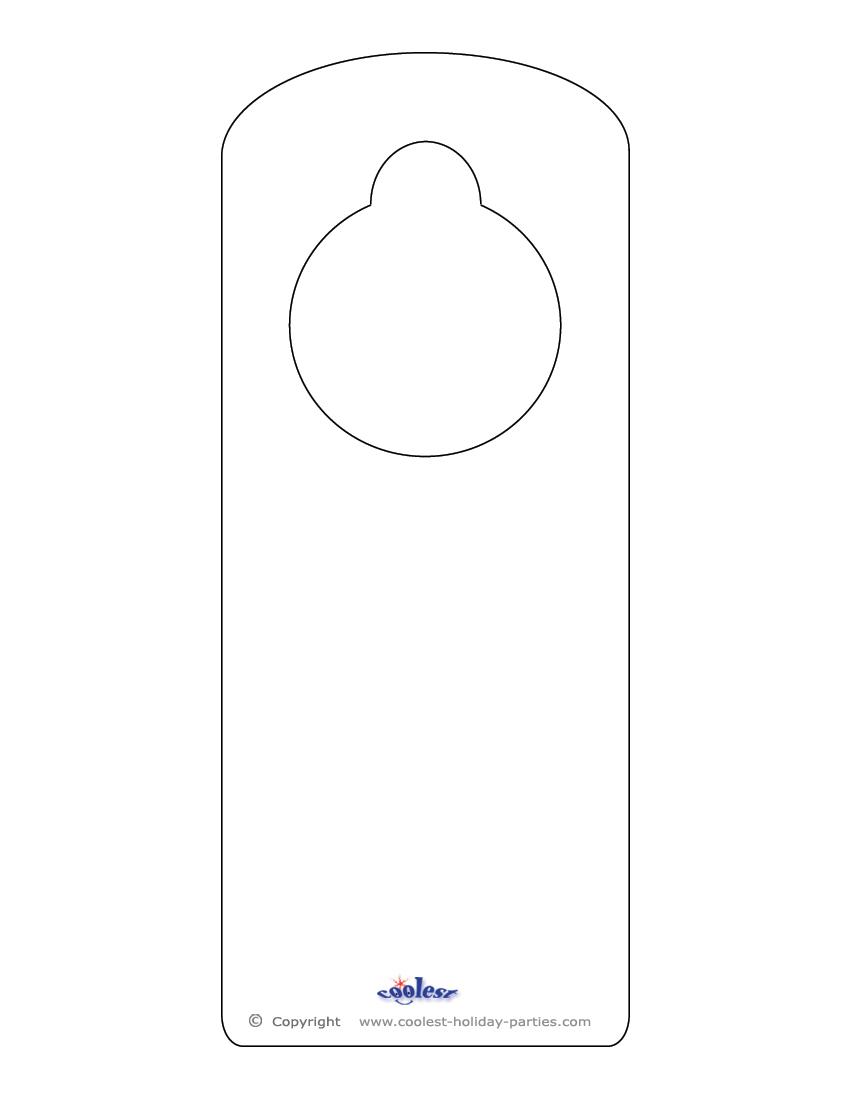 door knob hangers template free photo - 6
