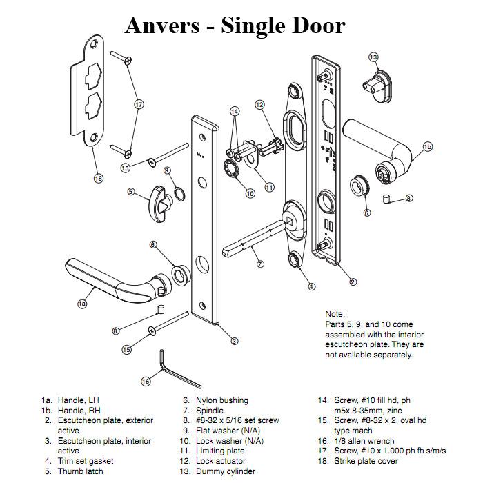 door knob hardware parts photo - 17