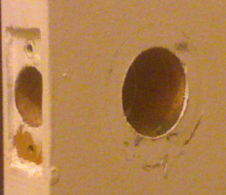 door knob hole photo - 1