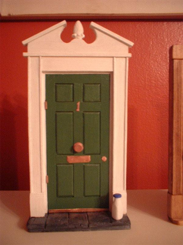 door knob in center of door photo - 1