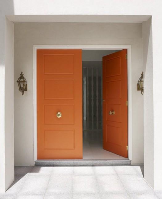 door knob in center of door photo - 11