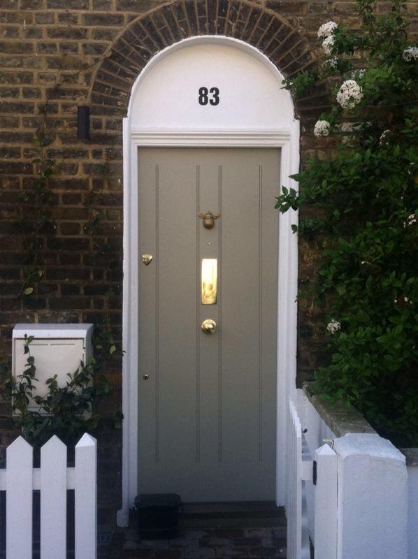 door knob in center of door photo - 15