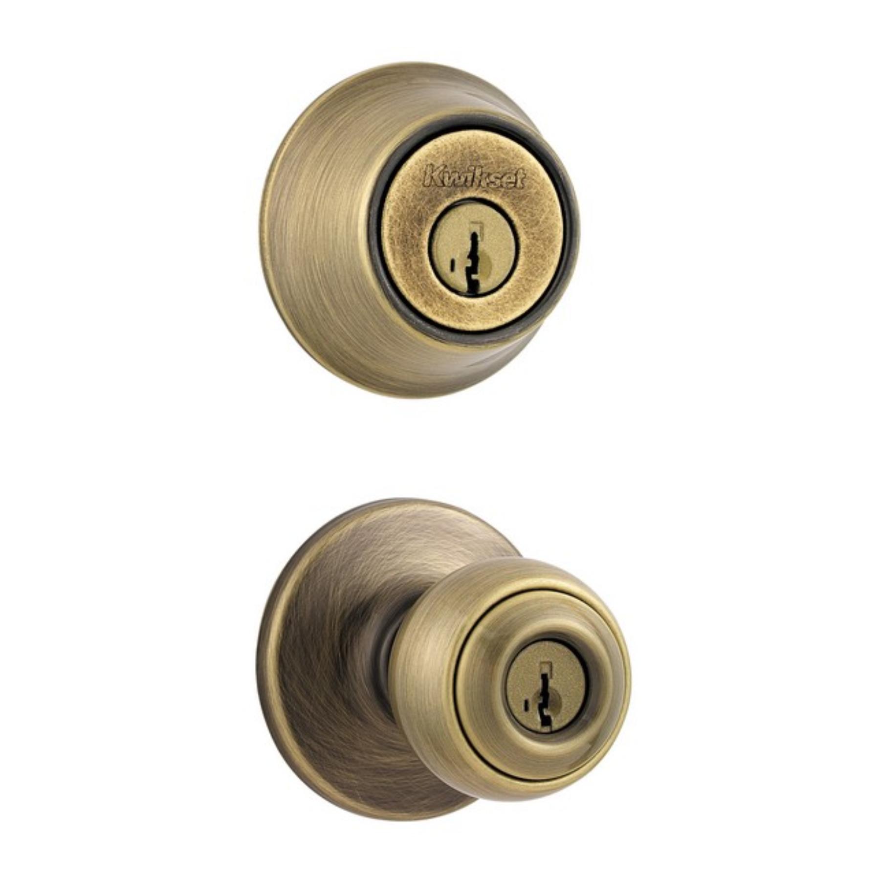 door knob in center of door photo - 16