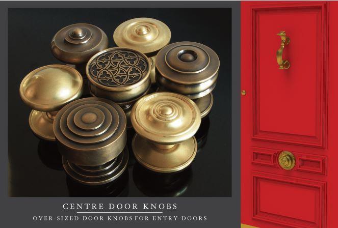 door knob in center of door photo - 18