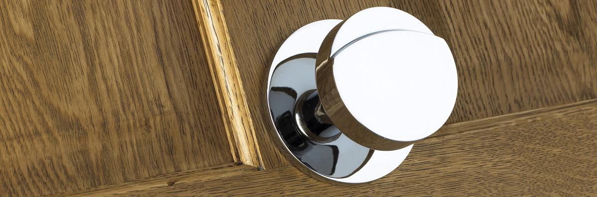 door knob in center of door photo - 19