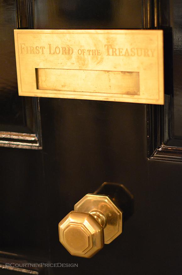 door knob in center of door photo - 20