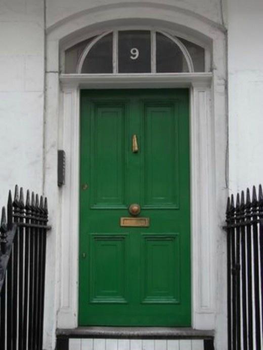 door knob in center of door photo - 5
