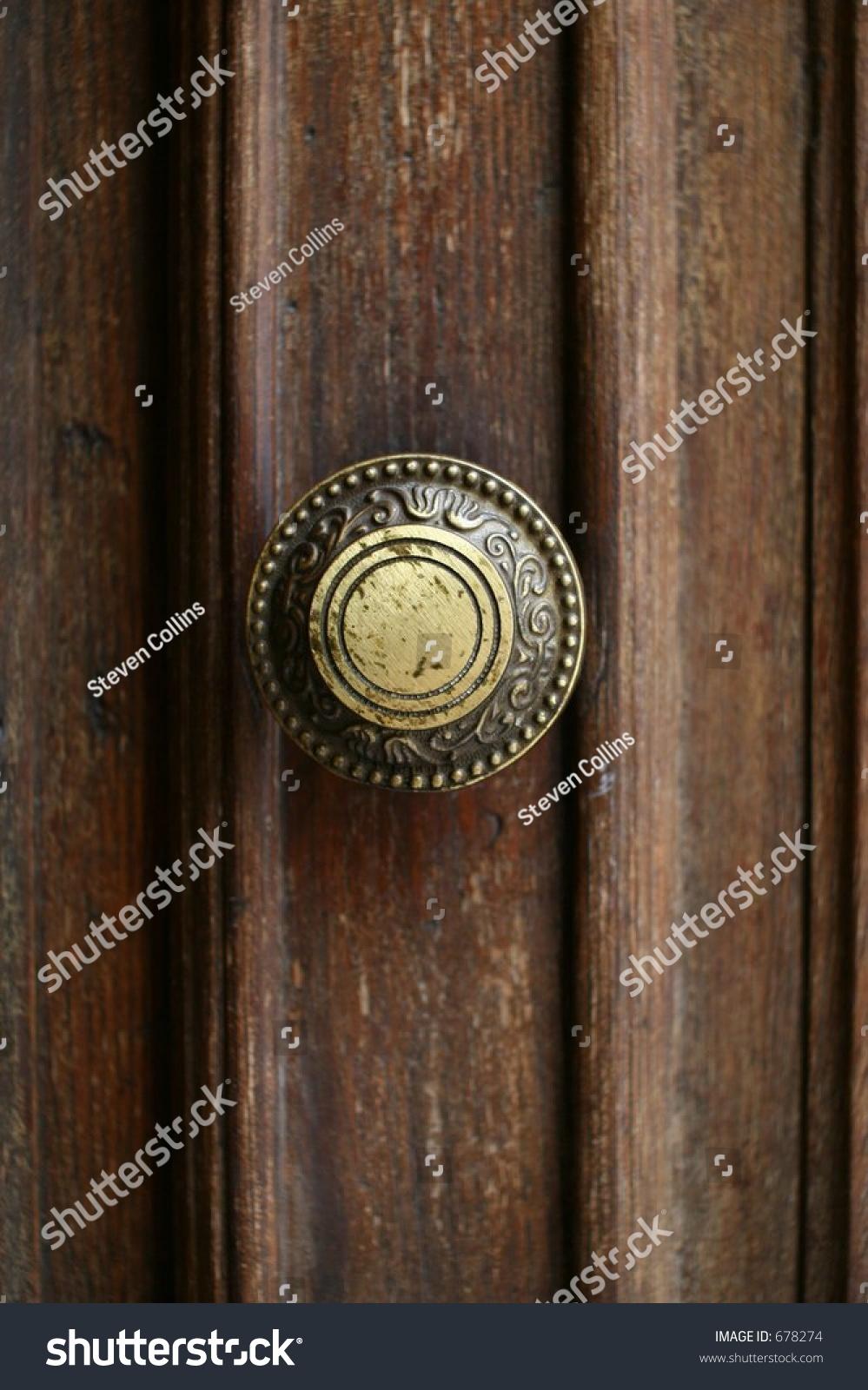 door knob in center of door photo - 8