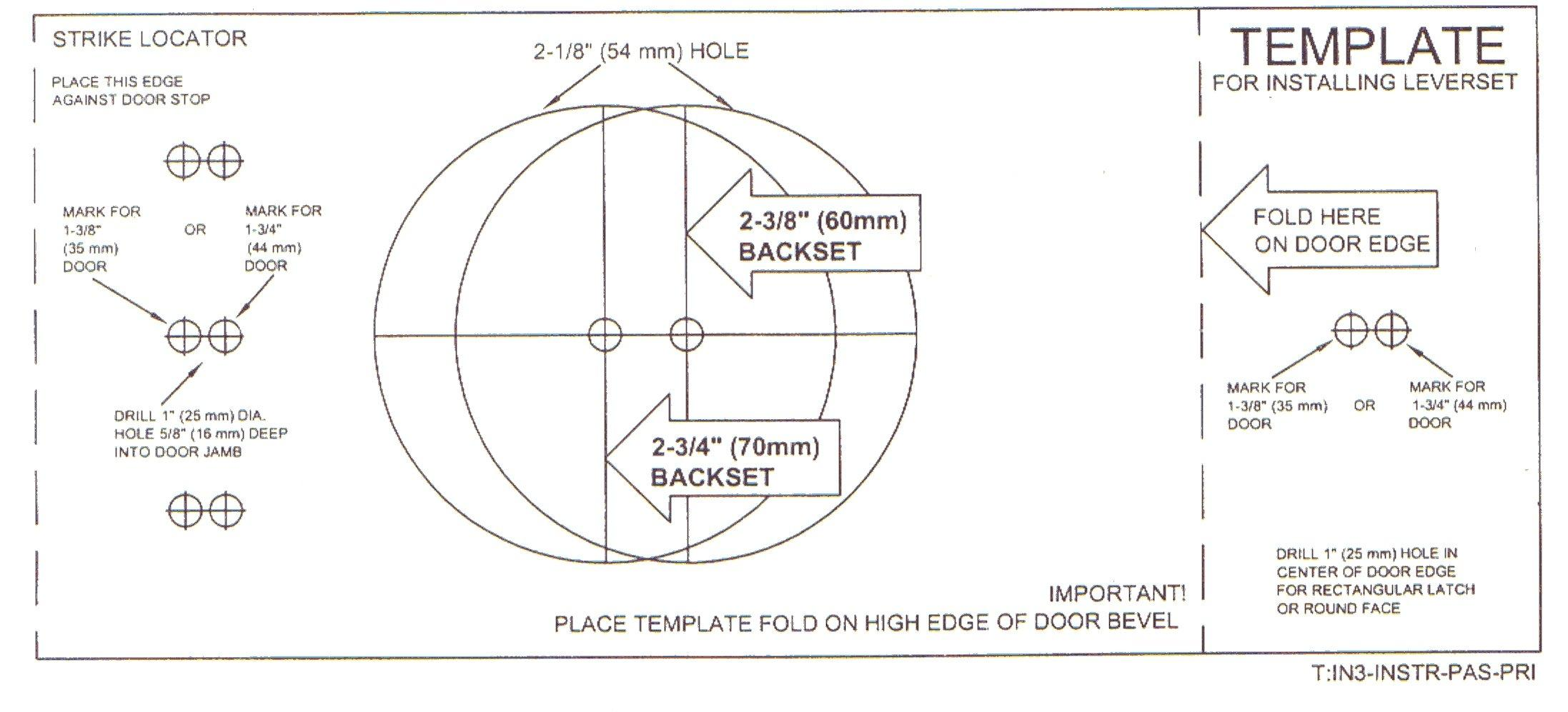 door knob installation template photo - 1