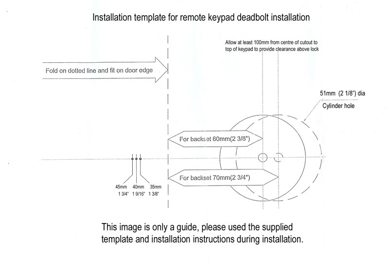 door knob installation template photo - 3
