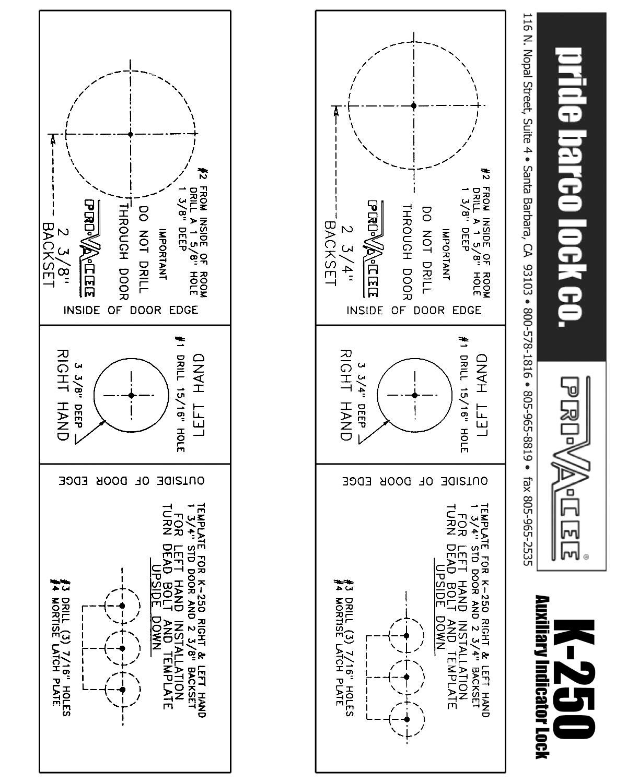 door knob installation template photo - 6