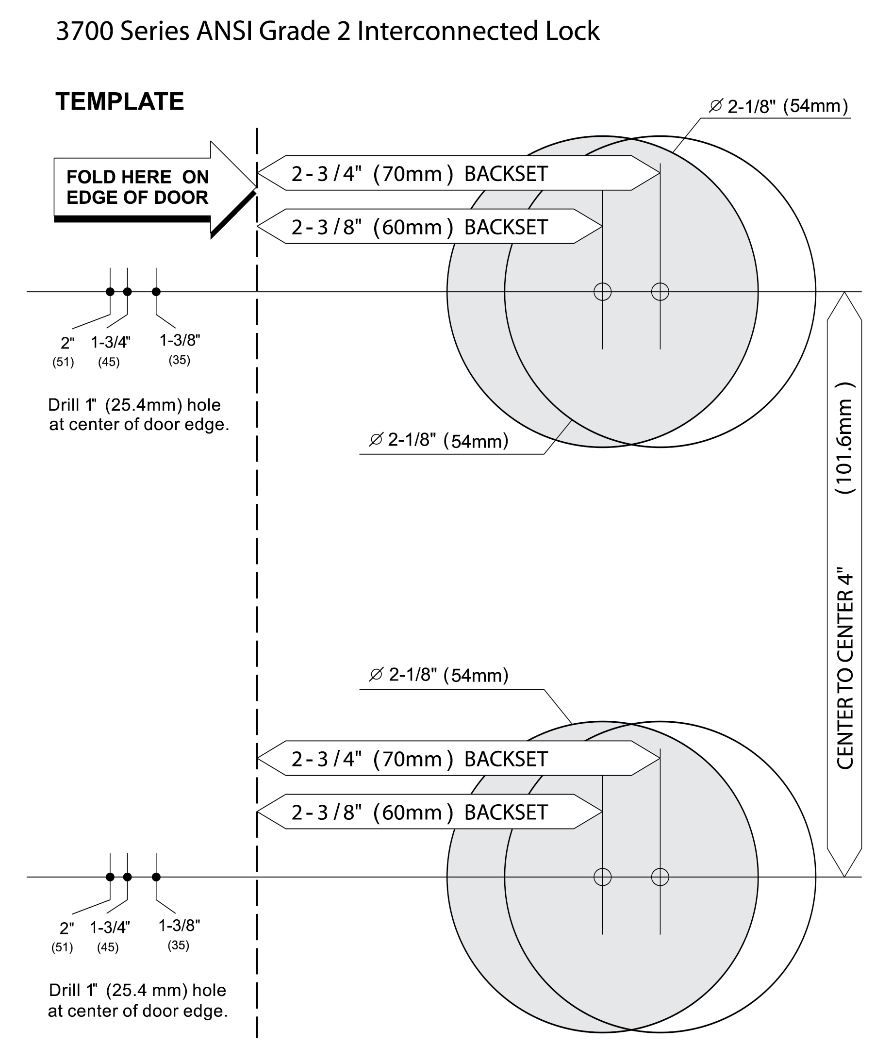 door knob installation template photo - 9