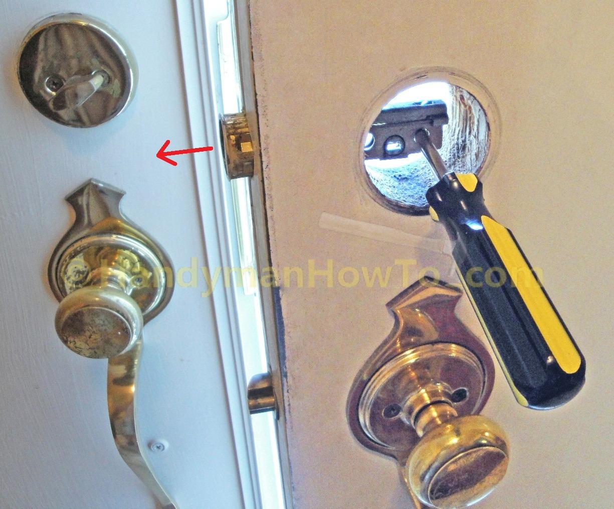 door knob lock stuck photo - 18