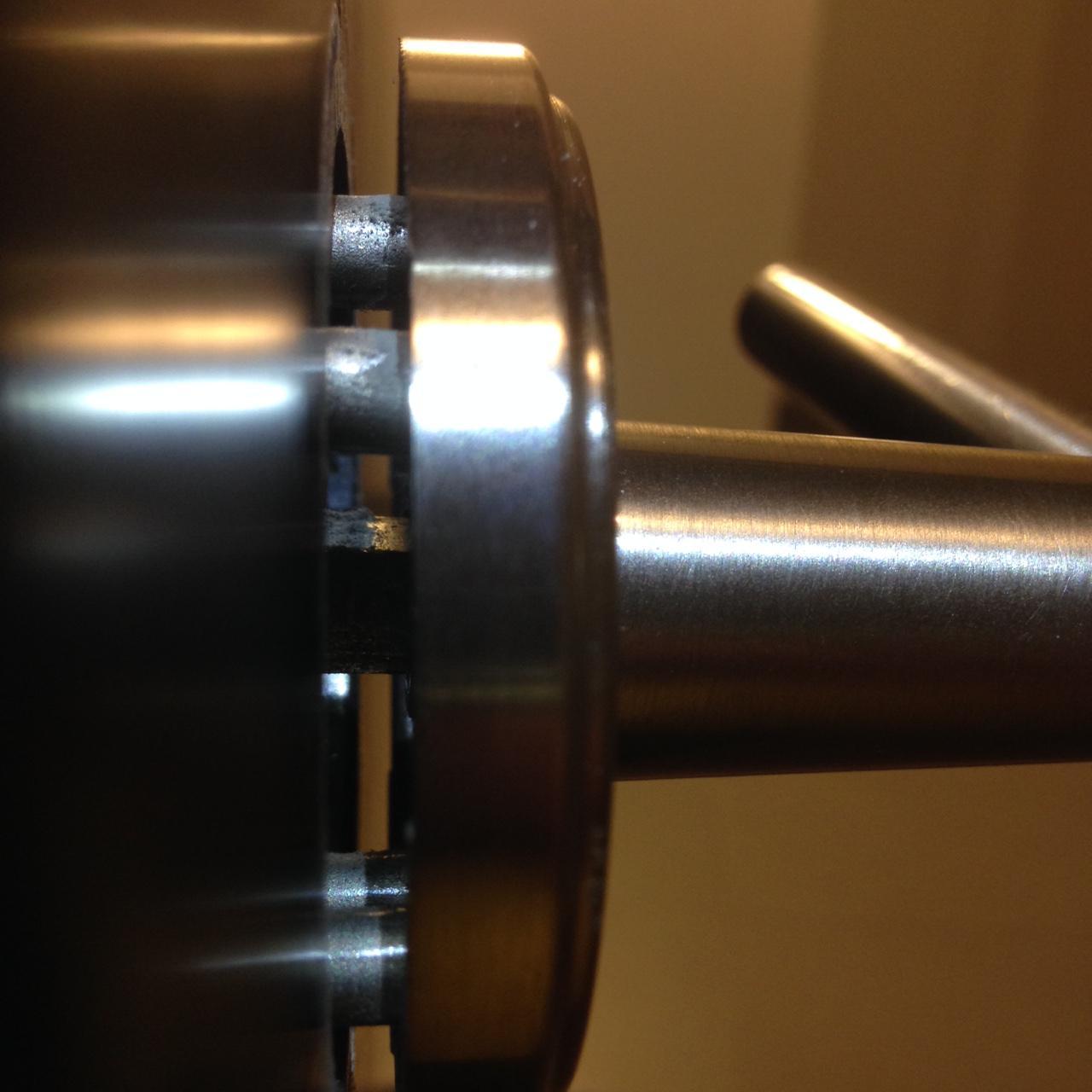 door knob no screws photo - 9