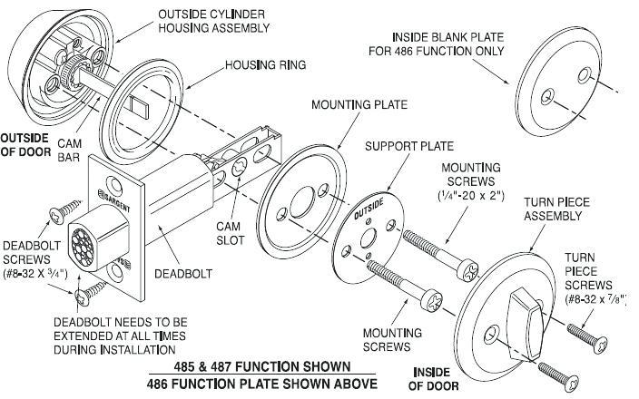 door knob parts diagram photo - 18