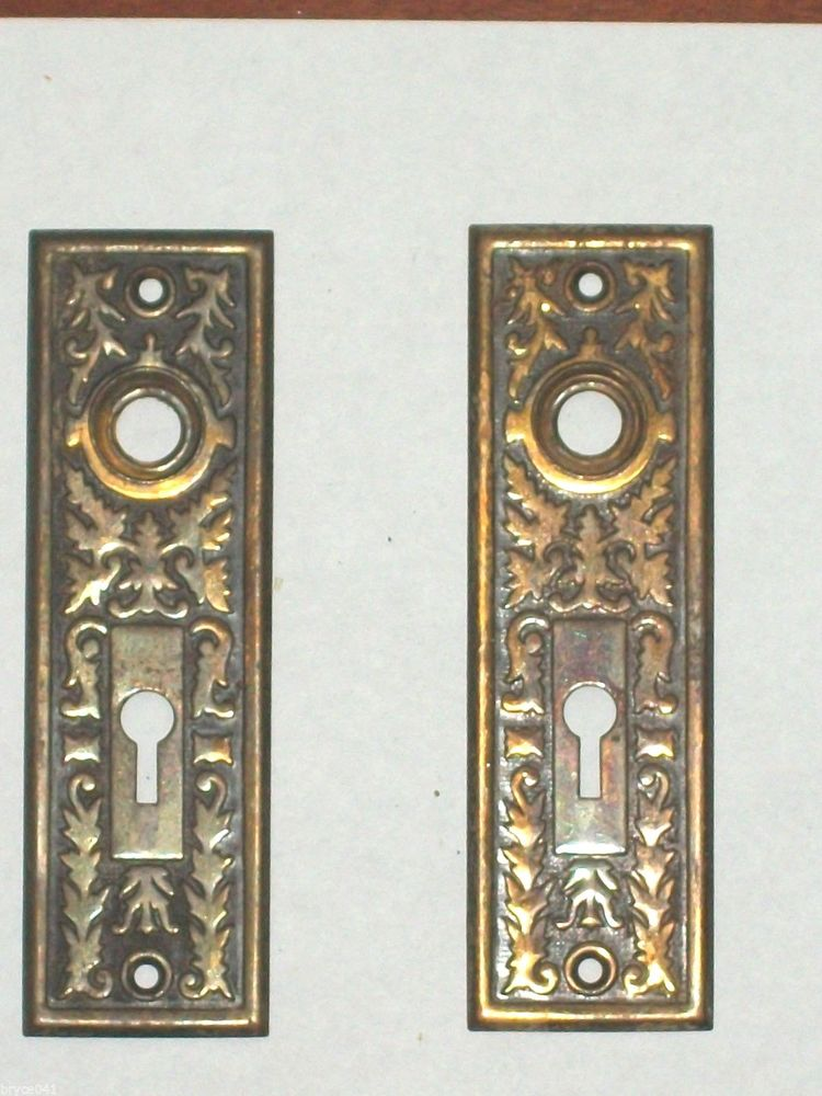 door knob plates antique photo - 15