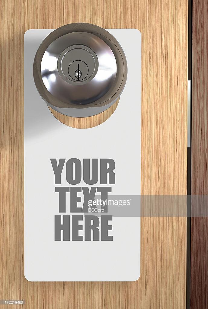 door knob sign photo - 13