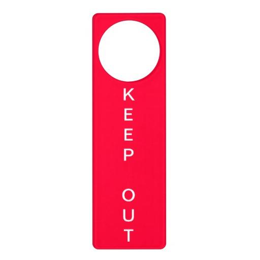 door knob sign photo - 14