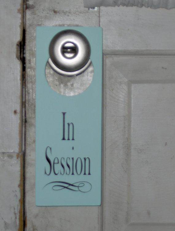door knob sign photo - 15