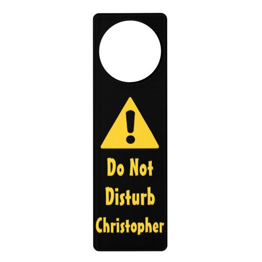 door knob sign photo - 19