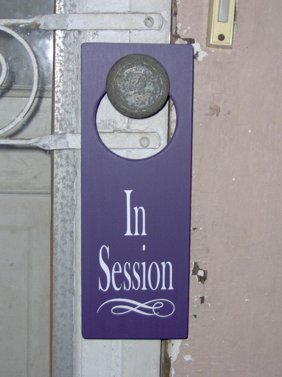 door knob sign photo - 4